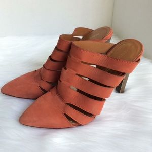 Rebacca Minkoff Heels pointed leather coral